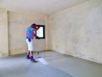 Farbe und Fußboden Garage